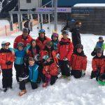 Skifahren mit Flocke im Brandertal