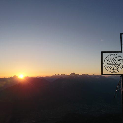Sonnenaufgang auf der Mondspitze