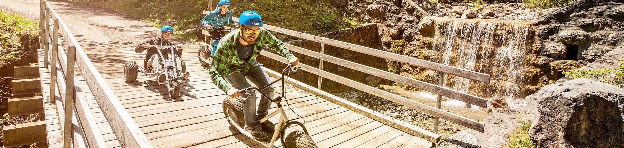 Spaß auf drei Rädern – Die Mountainkarts Brandnertal