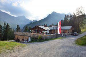 Der Alpengasthof Melkboden im Palüd