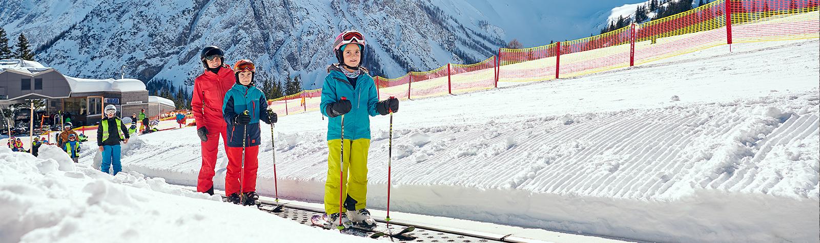 Einsteigerlifte & Pisten im Skigebiet Brandnertal