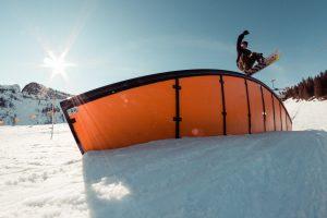 Im Backyards Snowpark schnupperte Alex die erste Parkluft