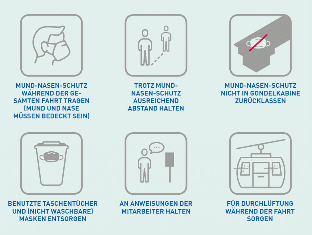 Während der Fahrt gelten diese Anweisungen.